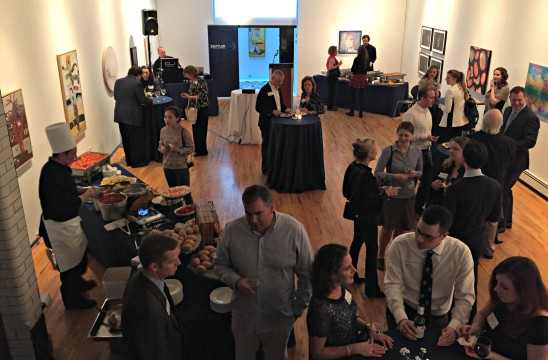 Sir Ives Caterers Manhattan Division caters a business event for Butler University alumni