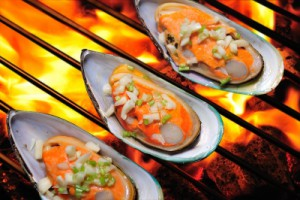 grilled mussells